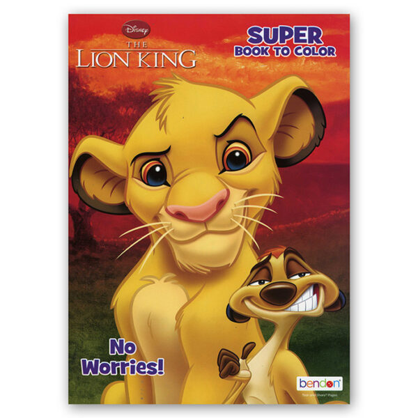 LION KING Coloring Book Bazic Products