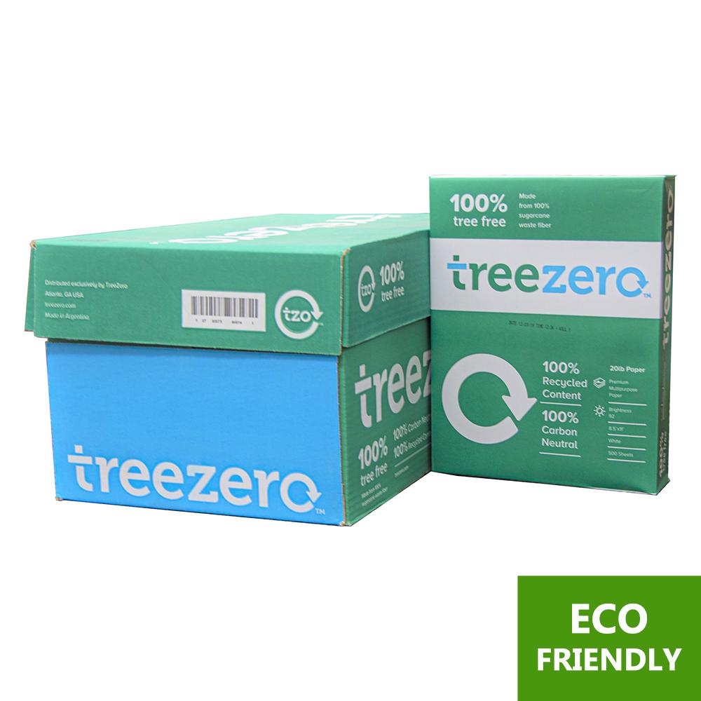 [Recycled] TREE ZERO (92) 8.5″ X 11″ White Copy Paper (10 Reams/Case)