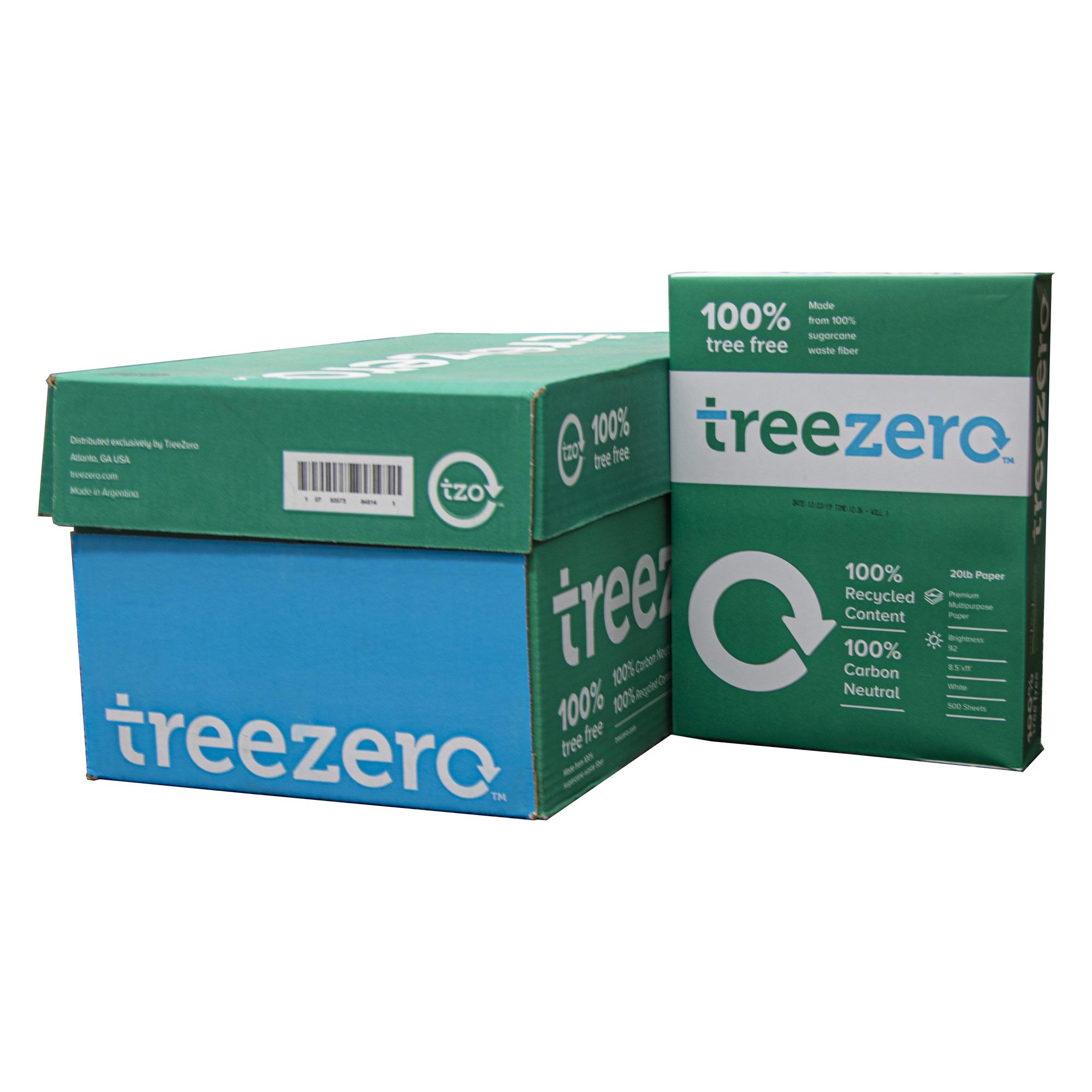 TREE ZERO (92) 8.5″ X 11″ White Copy Paper (10 Reams/Case)
