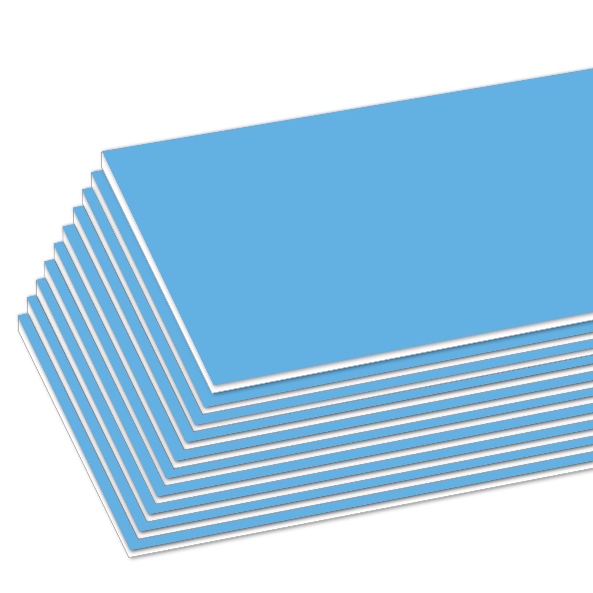"""20"""" X 30"""" Sky Blue Foam Board"""