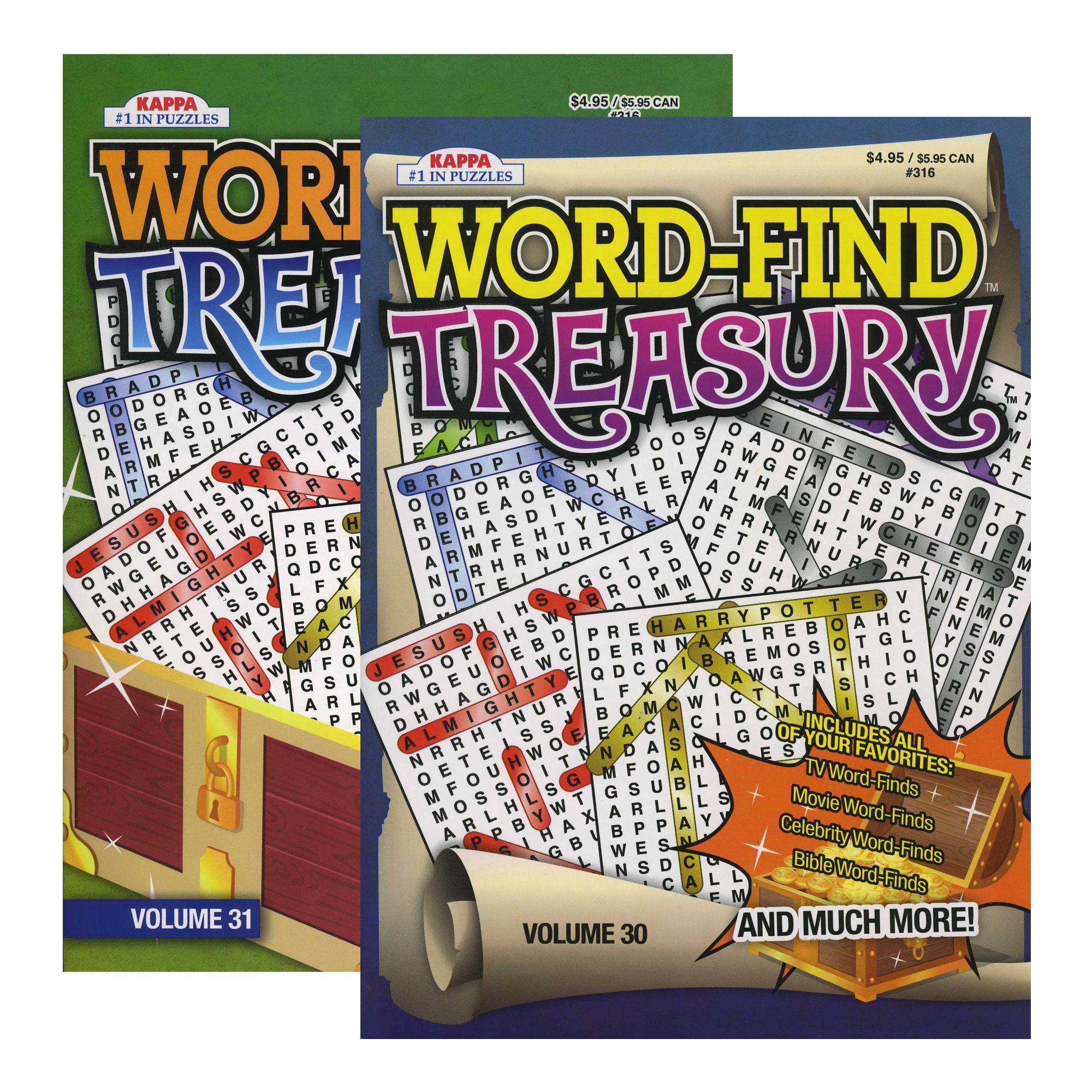 Puzzles KAPPA Word-Find Treasury