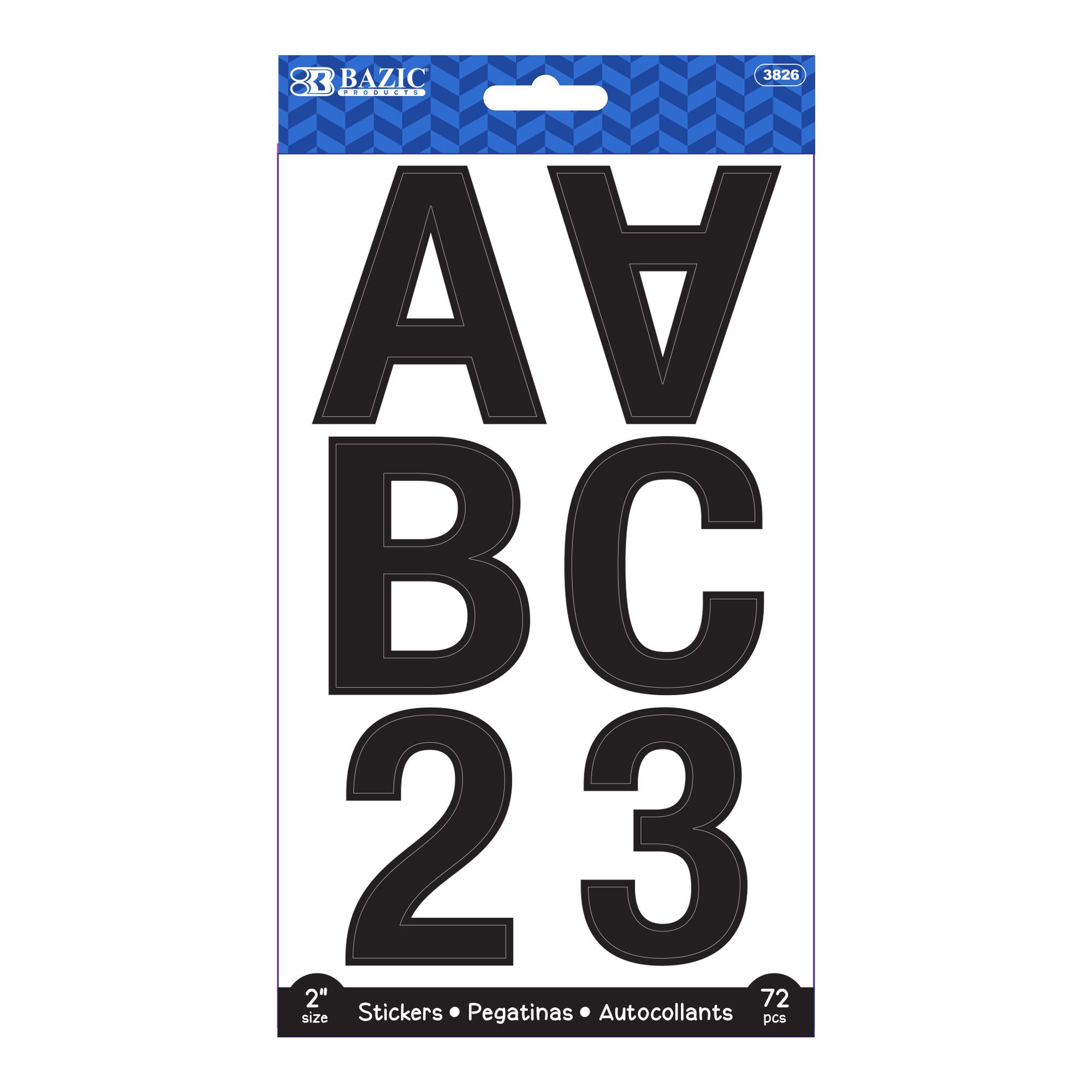 [Stickers] Alphabet & Number 2″ Black Color (10 SHEETS)