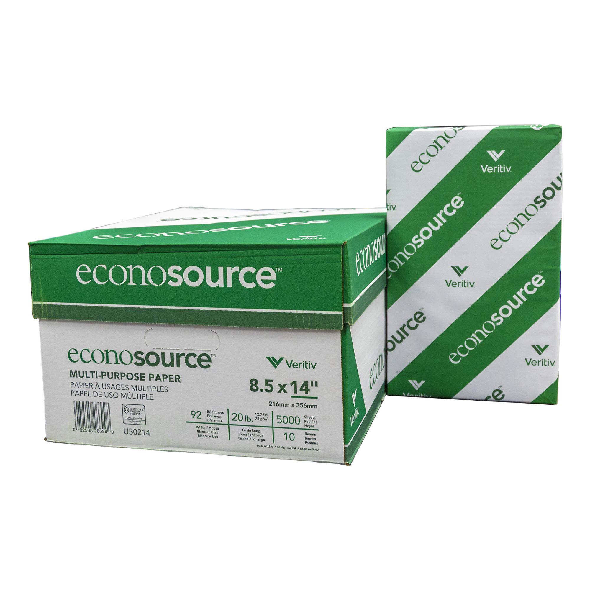 ECONOSOURCE BOISE (92) 8.5″ X 14″ Legal Size Copy Paper (10 Reams/Case)