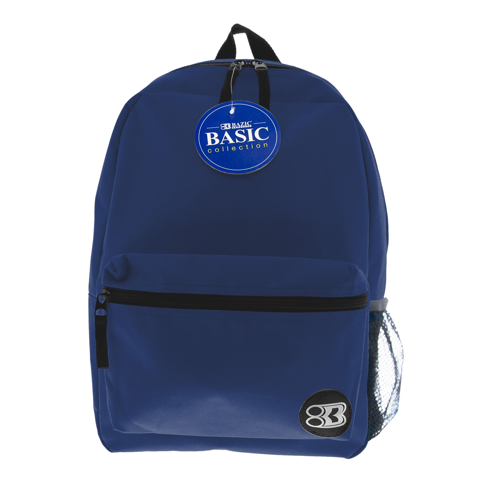 Basic 16″ Navy Blue Backpack