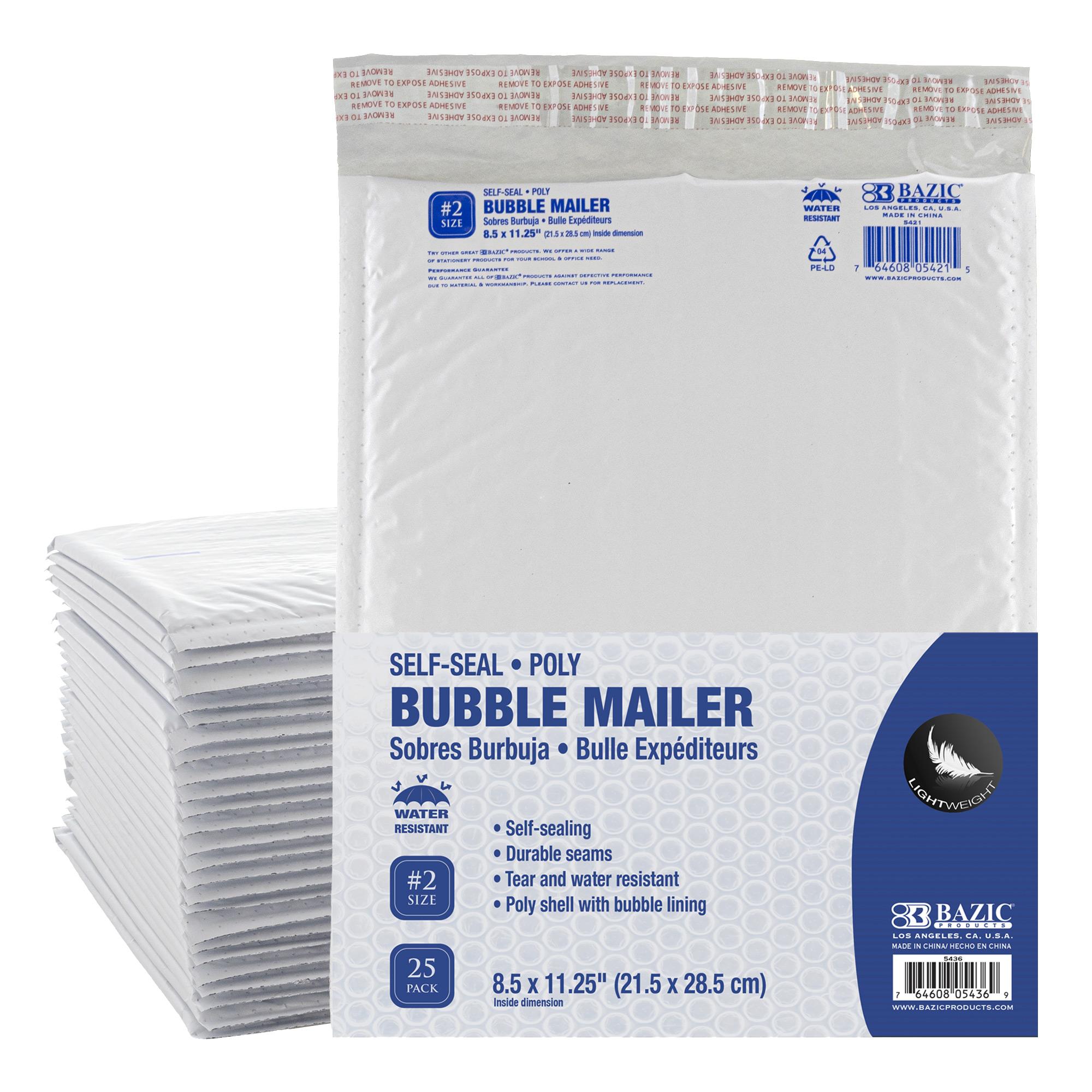 Poly Bubble Mailer Bulk (#2) 8.5″ x 11.25″ (25/Pack)