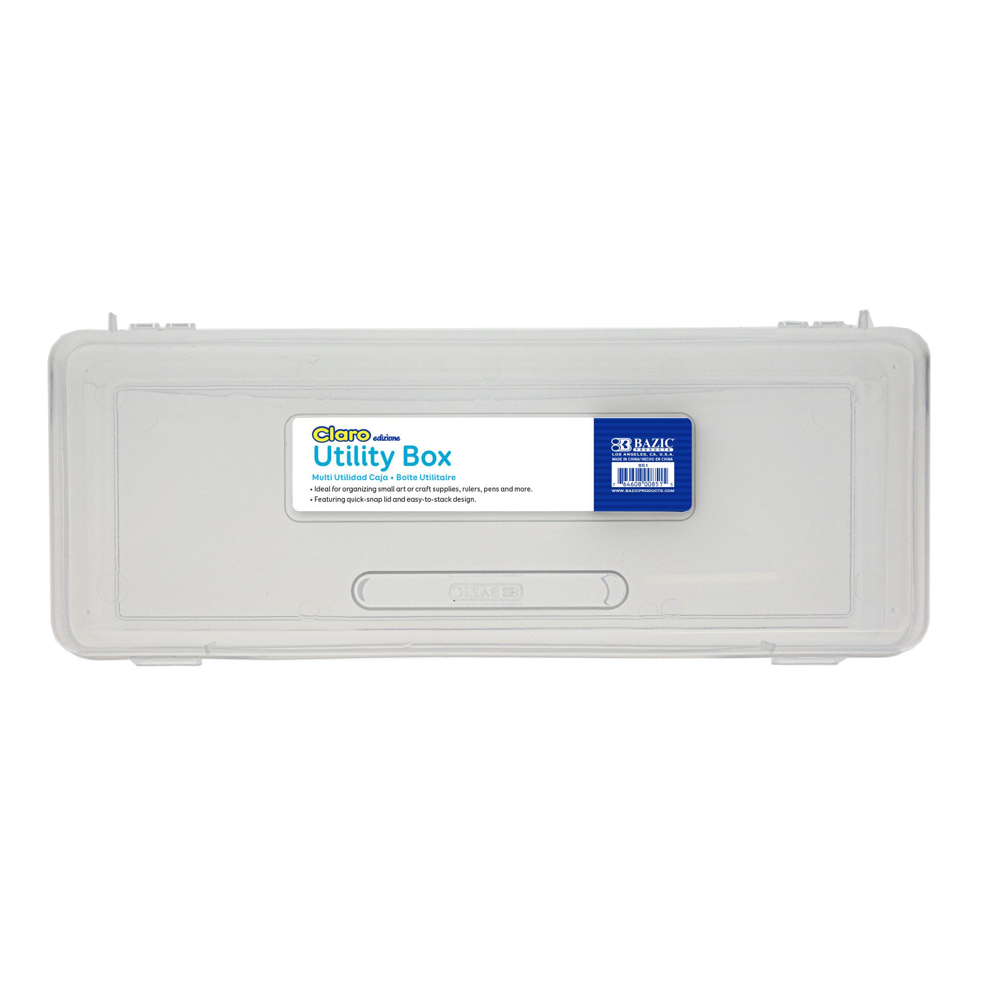 Pencil Case Multipurpose Utility Box Ruler Length – Clear