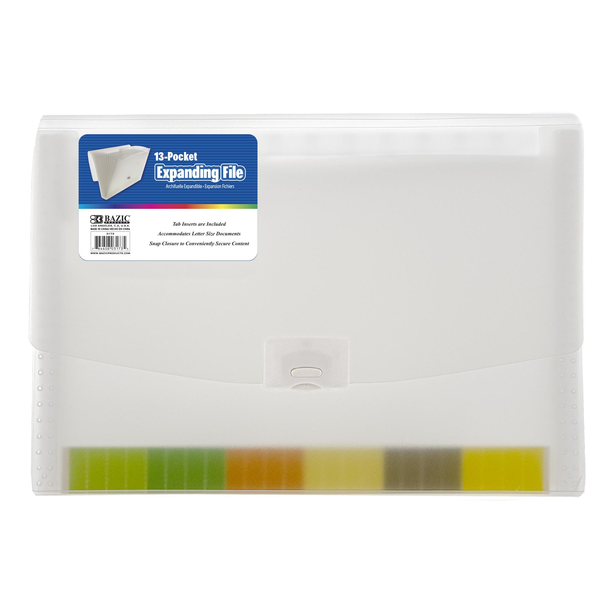 Expanding File Letter Size Translucent Poly 13-Pocket