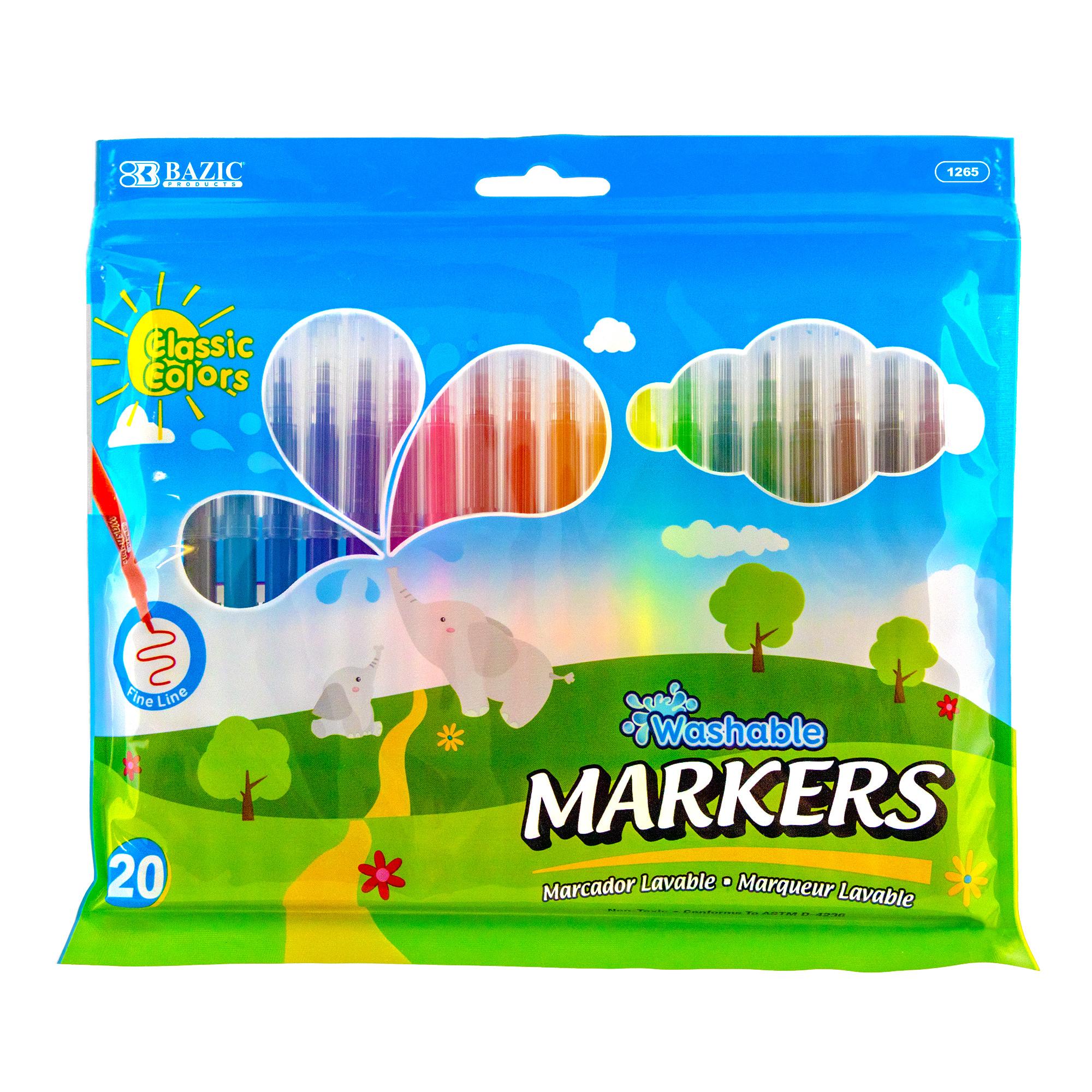 Fine Line 20 Colors Washable Markers